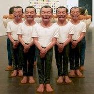 Yue Minjun, the Last 5000 Years, 2000
