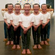 Yue Minjun, the Last 5000 Years, 2000