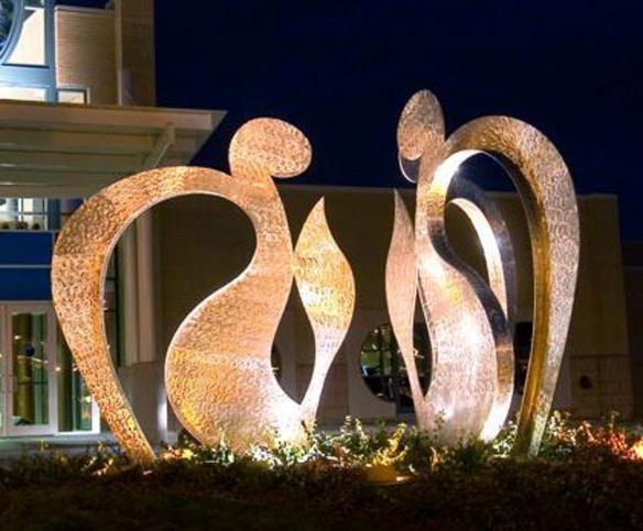 L'Chaim - To Life Sculpture, 2005, stainless steel, 9x17 feet (3 parts)Lewis and Shirley White Theater,