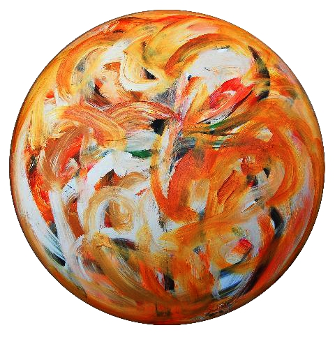 2011.0054, acrylic on canvas, 36 in. diameter