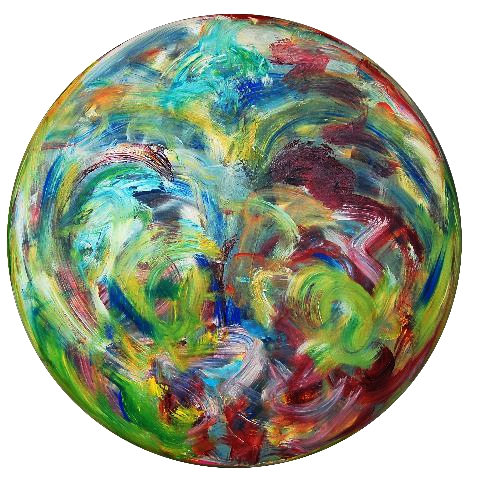 2011.0055, acrylic on canvas, 36 in diameter