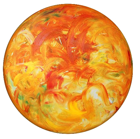 2011.0056, acrylic on canvas, 36 in diameter