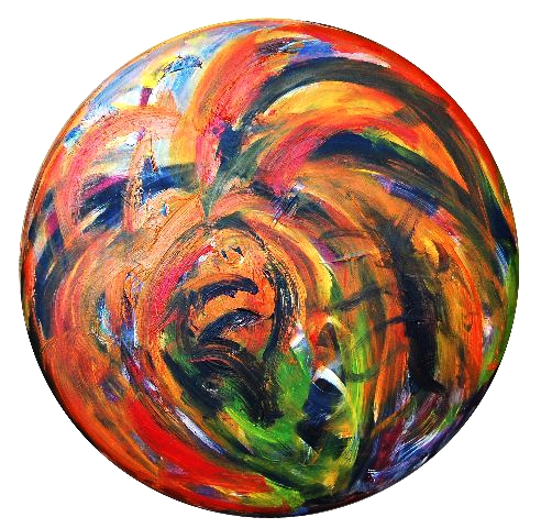 2011.0057, acrylic on canvas, 36 in diameter