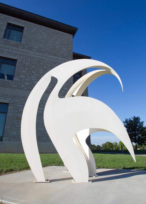 Fantasy, 1985, University of Central Missouri, painted steel, 9.5x8x6 feet