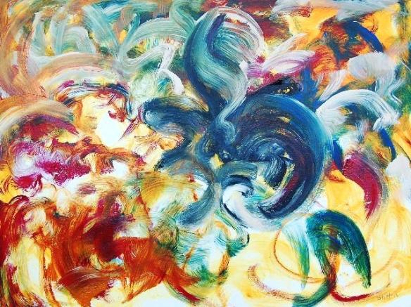 Recent Rhythms, III, 2011.0033, acrylic on canvas, 30x40