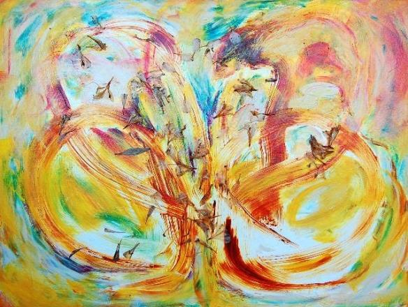 Recent Rhythms V, 2011.0034, acrylic on canvas 30x40