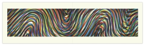 Sol Lewitt,Wavy Horizontal Lines (Diptych) (E-74), 1996