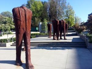 Walking Figures by Magdalena Abakanowicz