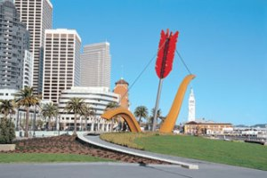 Claes Oldenburg and Coosje Van Bruggen, Cupid's Span 2006, San Francisco