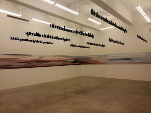 Liam Gillick with Louise Lawler at Casey Kaplan