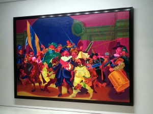 Rembrandt's Night Watch, 1974 by Peter Saul at Mary Boone